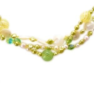 Jewelry - Mermaidia Real Pearl & Vintage Glass Necklace